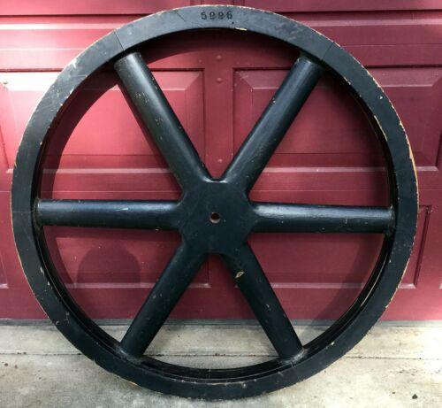 "Vintage Wood Foundry Pattern Steampunk Man Cave Art Décor—41"" Wheel"