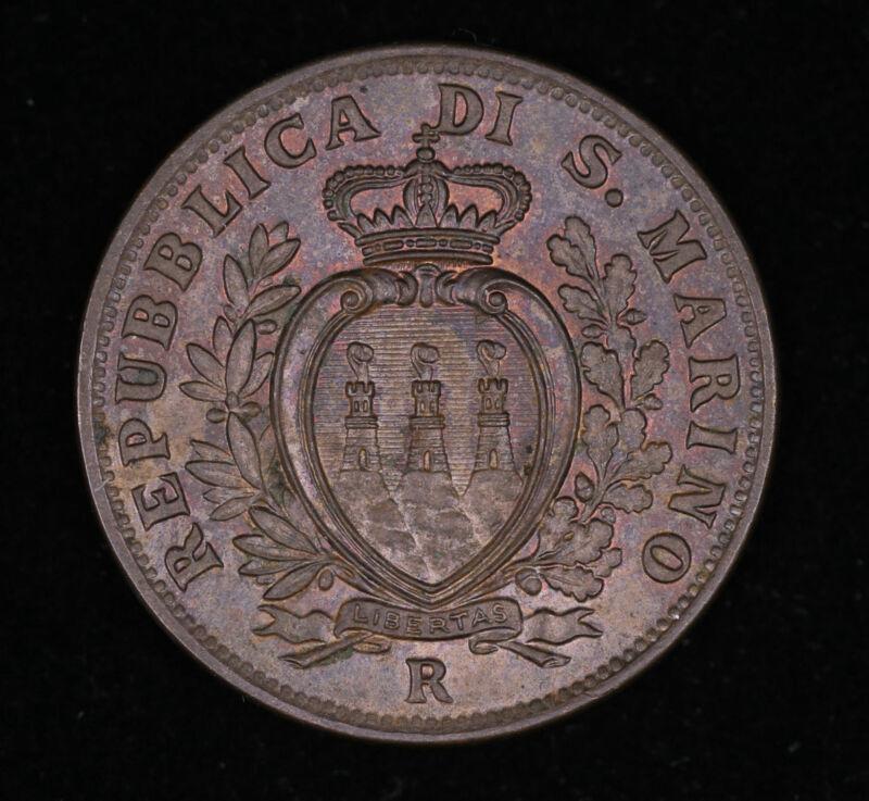 1935 SAN MARINO 10 CENTESIMI COIN UNCIRCULATED #FC1911238