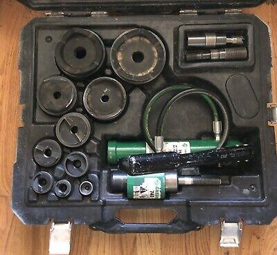 Greenlee 7310sb 12-4 Hydraulic Knockout Punch Set Slug Buster Electrical
