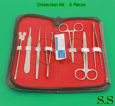Dissection Kit - 8 Pcs Professional Biology Anatomy Veterinary Students Kit