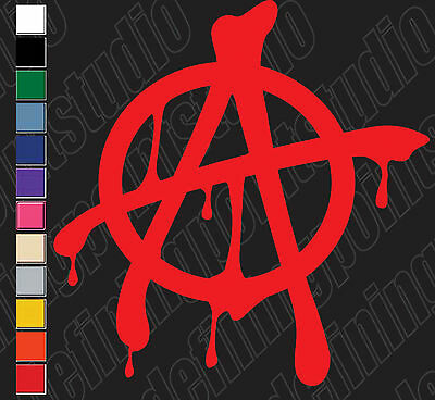 Anarchy Car Toolbox Laptop Etc Vinyl Decal Stickers
