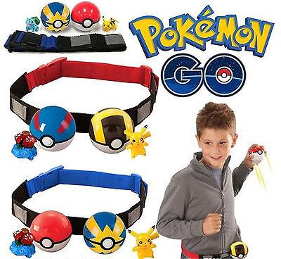 Pokemon Clip Carry Adjustable Hanging Poke Ball Belt Xmas Gift Pretend Play Game