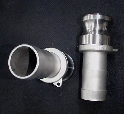 Stainless Steel Cam Lock Adapter 1 14 Male - 1 14 Hose Barb Clhb125