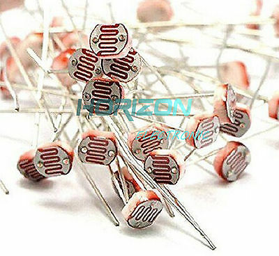 100pcs Photo Light Sensitive Resistor Photoresistor Optoresistor 5mm Gl5549 New