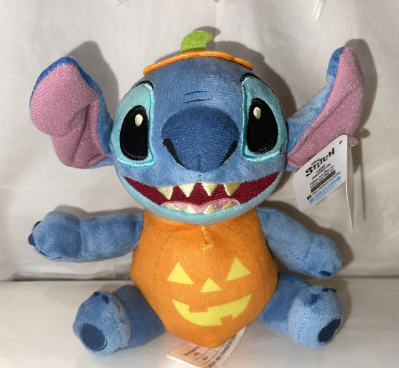 "Lilo & Stitch Disney Halloween STITCH Mascot 6.5"" Plush NWT"