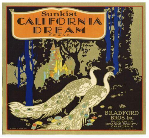 CALIFORNIA DREAM Brand, Placentia  *An Original 1930