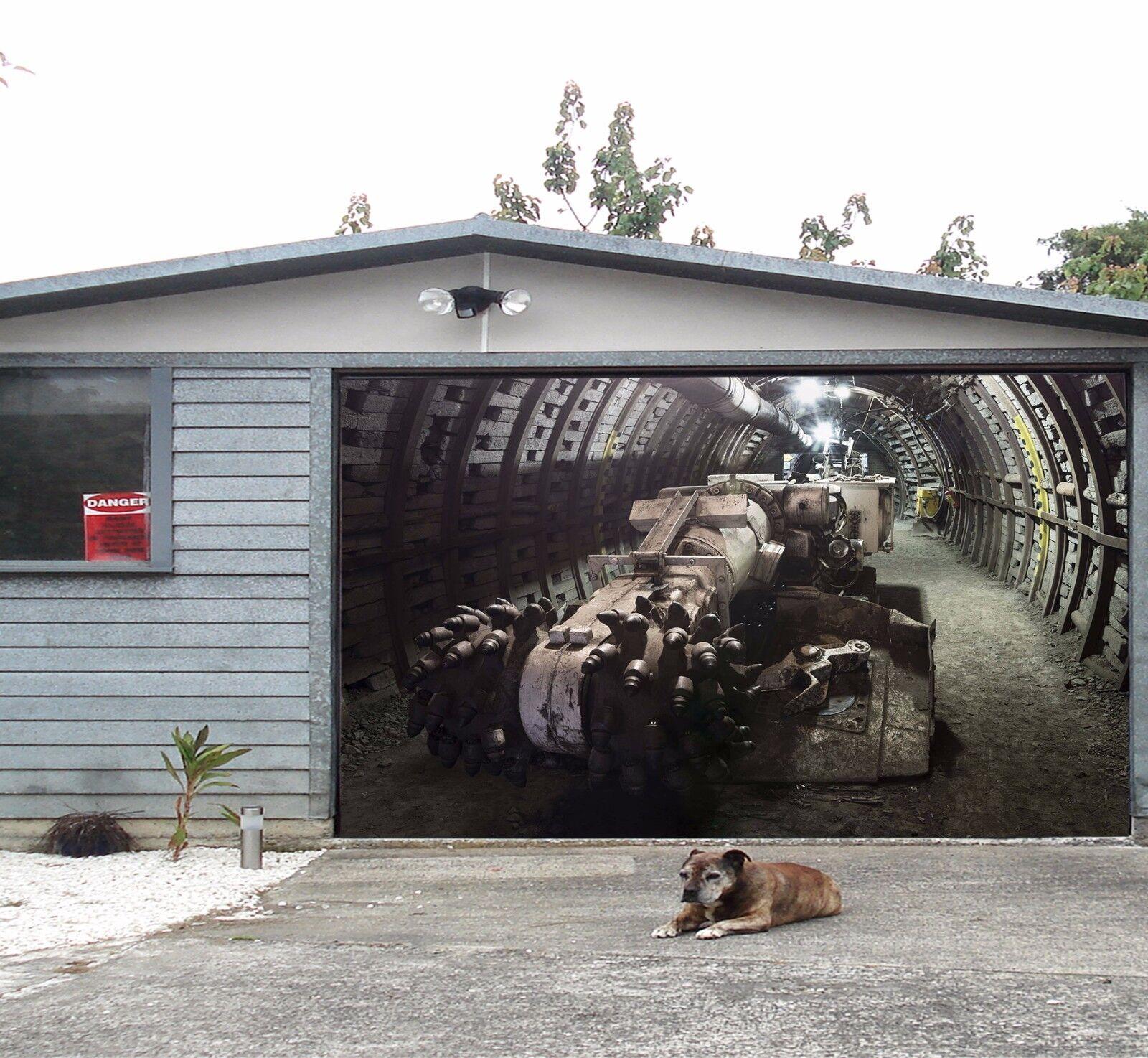 3D Maschine Garage Tür Wand Druck Abziehbild Wand AJ WALLPAPER DE Lemon