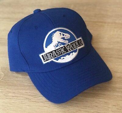Jurassic World Hat Embroidered Patch Park Cap  Dinosaur Movie INGEN Blue - Dinosaur Hat