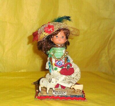 Art Doll Salt Shaker Mixed Media Mary Had A Little Ram OOAK Collage Art