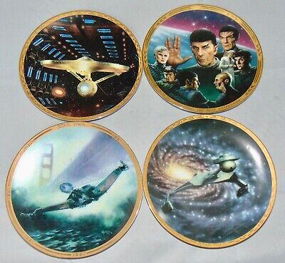 Hamilton Collection Star Trek Collectible Plates Limited Edition Lot Of - Star Trek Collectible Plates