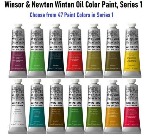 Winsor & Newton Winton Oil Color Paint, Series 1, 37ml Tube, Choose Paint Color