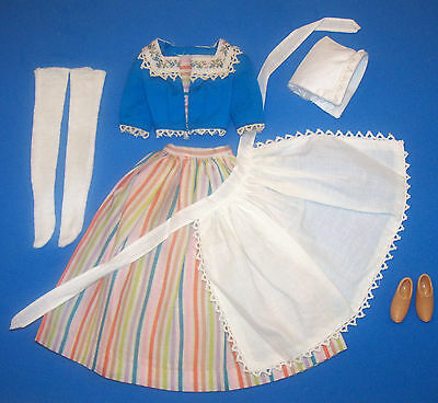 Vintage Puppe Reise Kostüm Fast Komplett Barbie in Holland 1964 #0823 (Barbie Puppe Kostüm)