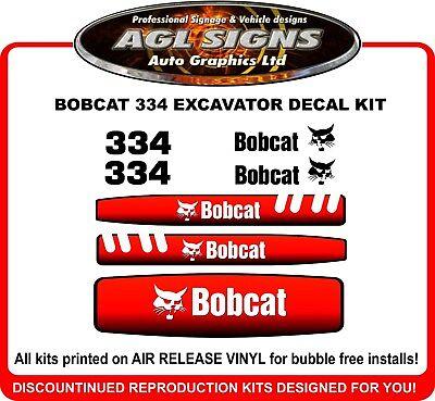 Bobcat 334 Mini Excavator Replacement Decal Kit 331 335