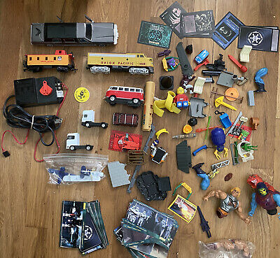 toy junk lot parts He Man ho trains misc toys and parts Diecast