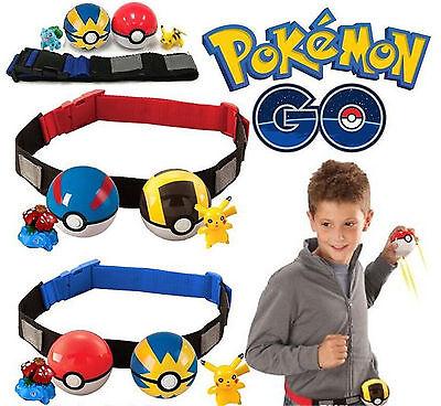 Pokemon Clip N Carry Kids Adjustable Poke Ball Belt Pretend Play Game