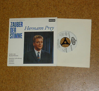 "Single 7"" Hermann Prey Lieder von Strauss DECCA SVD 1023 Weislabel Musterplatte"