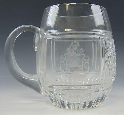 Boot-becher (Galway Crystal Wappen / Segelboot Becher / Krug Ausgezeichneter)