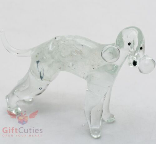 Art Blown Glass Figurine of the Bedlington Terrier dog
