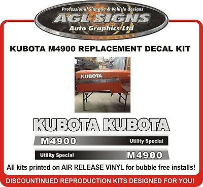 Kubota M4900 Tractor Decal Set Reproductions