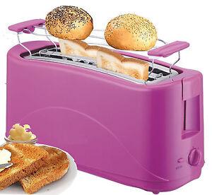Toaster 4 Scheiben Langschlitz Toster Toastautomat 1300 Watt PINK NEU