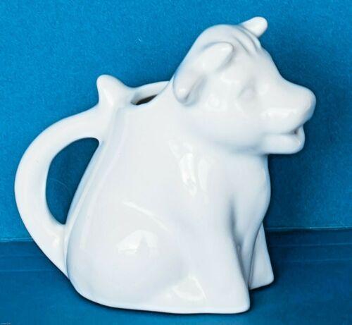 "VTG Small  White Porcelain Cow Creamer Country Farmhouse Decor 3"" ~  EXCELLENT"