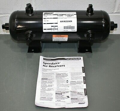 Speedaire Air Receiver Tank 1tzy6 2 Gallon 175 Psi Horizontal Surge Reservoir