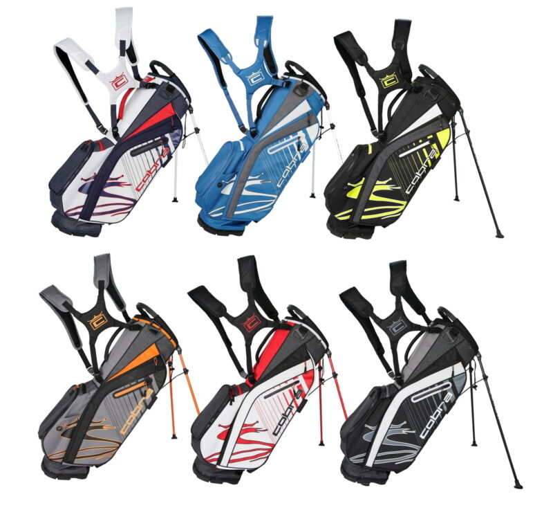 Cobra Mens Ultralight Stand Golf Bag 909402 4.5 lbs - New 2021