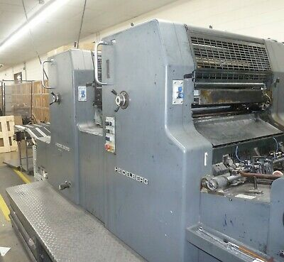 1991 Heidelberg Mozp 2 Color Offset Printing Press