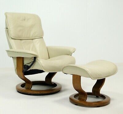 Ekornes Stressless Commodore Armchair & Foot Stool Reclining FREE UK Delivery