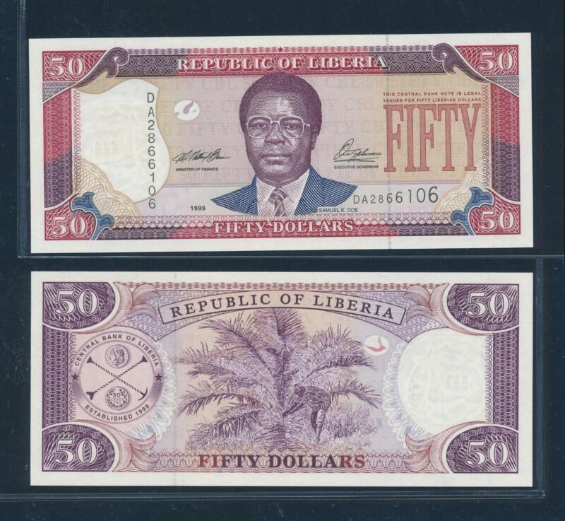 [105046] Liberia 1999 50 Dollars Bank Note UNC P24