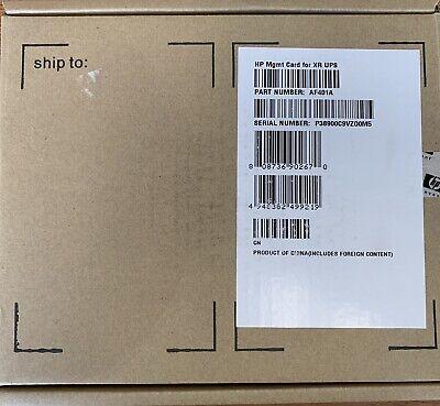 HP Option-Slot XR UPS Network Management Card AF401A SNMP Web Card