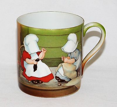 Antique ~Royal Bayreuth~ Sunbonnet Babies Children Playing Cup Mug w/ Handle