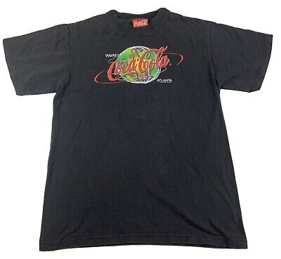 Vintage World Of Coca-Cola In Atlanta Coke Drink  Graphic Print T Shirt M