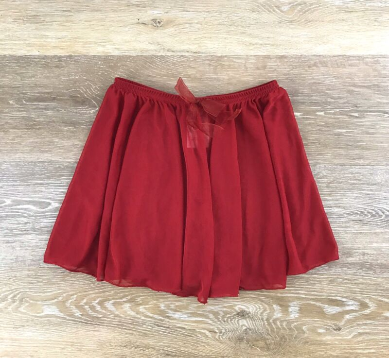 Capezio Girls Dance Skirt Dark Red Medium