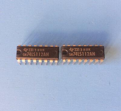 2x Sn74ls112an Texas Instruments Ic Flip Flop Jk Type Neg-edge 2 Elemen 16p-dip