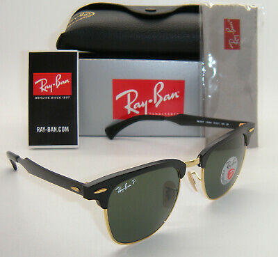 Ray-Ban Aluminum Clubmaster Black And Arista Green Polarized RB3507 136/N5 (Aluminum Clubmaster Glasses)