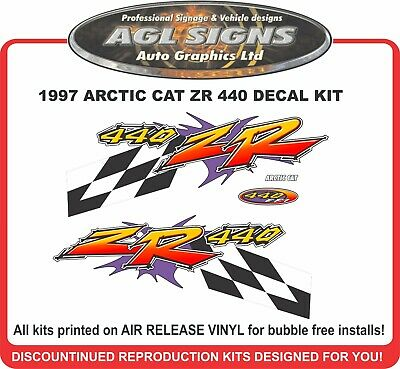 1997 ARCTIC CAT ZR 440 Replacement Decal Kit   580 also Available