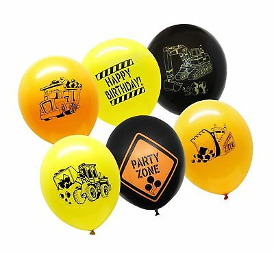 Construction Themed Birthday Parties (36 Construction Balloons Happy Birthday Party Supplies Site Themed Helium Latex)