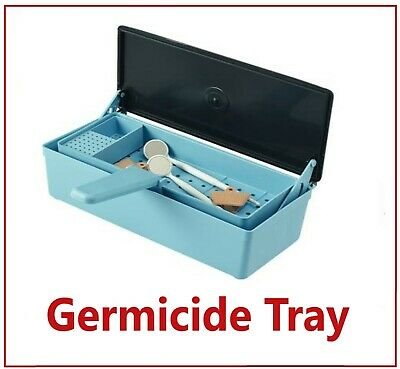 Germicide Tray For The Cold Sterilization Of Dental Tattoo Medical Tools Blue