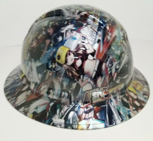 FULL BRIM Hard Hat custom hydro dipped, NEW JAPANESE ANIME SPEED RACER GIRLS 1