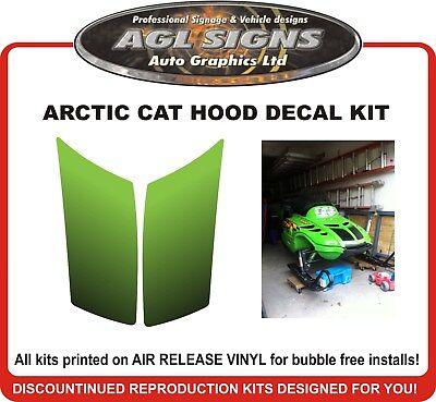 1998 ARCTIC CAT ZR Center Hood Vent  Decal Kit  , reproductions