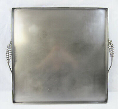 Large Commercial Handled Flat Steel Stove-top Griddle Plate 22 12 Square -vgc