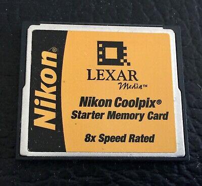 Nikon Lexar Coolpix 8x Speed CF Compact Flash Starter Memory -
