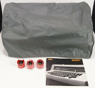 Ibm Selectric Iii Dust Cover Operating Instructions Manual 3 Font Balls