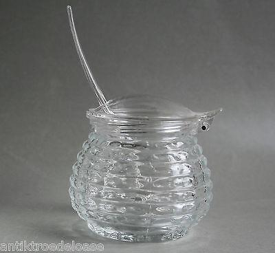 Glas Marmeladenglas  WMF Pressglas mit Kunststoffdeckel  Prof. W. Wagenfeld 1950