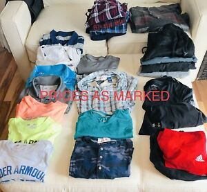 Men's Size S assorted  brand name clothing - like new!