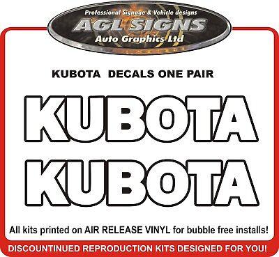 Kubota Replacement Decals One Pair.