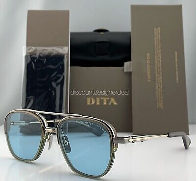 DITA RIKTON - TYPE 402 Sunglasses DTS117-02 Pale Gold Blue Chromatic (Chromatic Sunglasses)