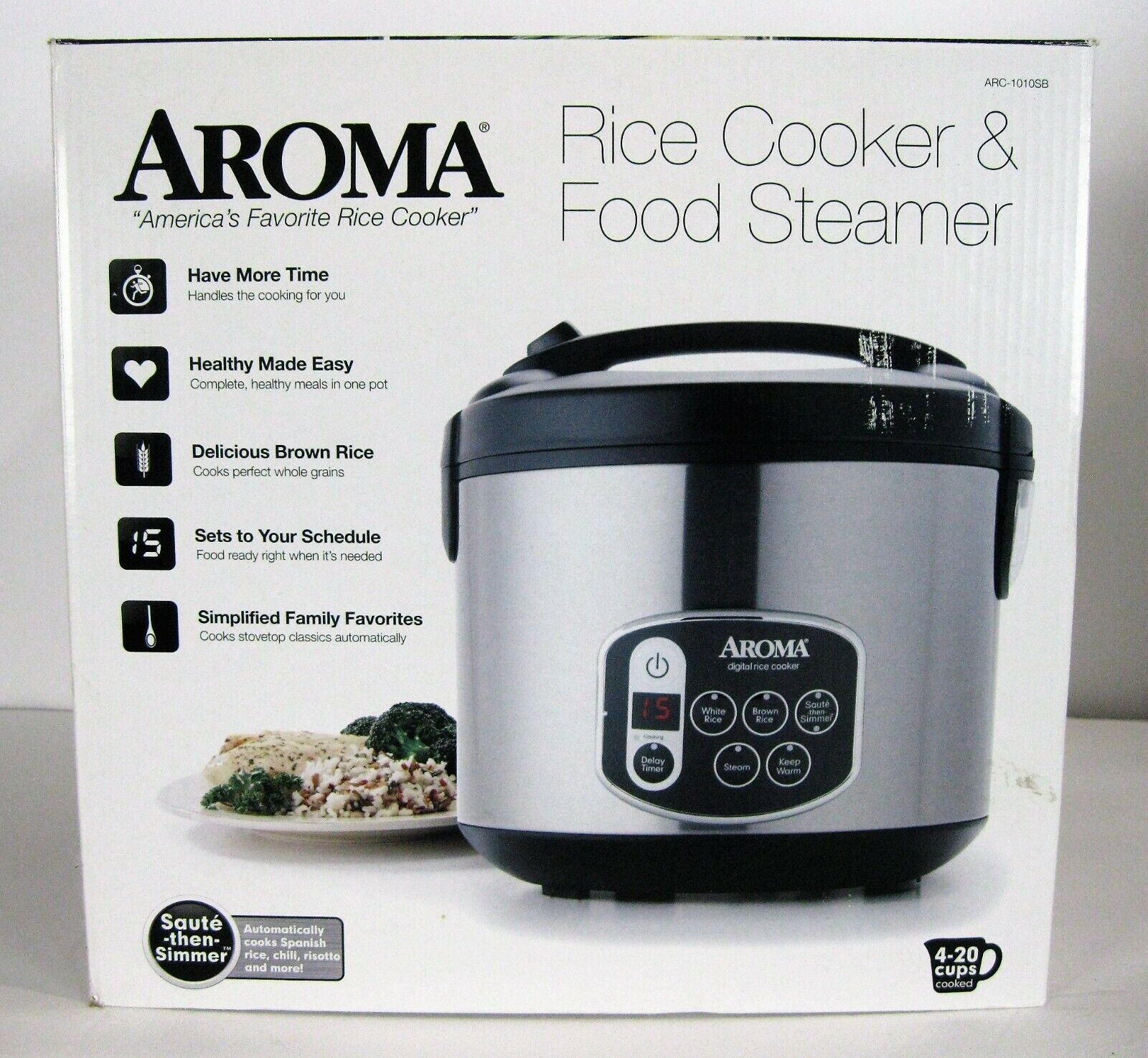 Aroma Housewares 20-Cup   Digital Rice Cooker & Food Steamer