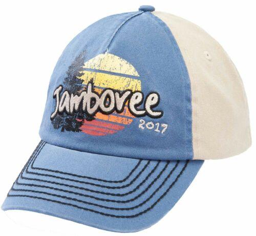 Boy Scout 2017 National Jamboree Retro Cap Hat Sunset Tree Adjustable Adult Teen